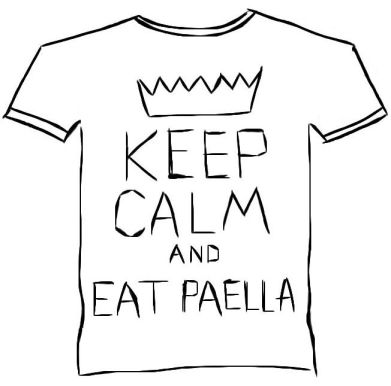 keep calm and eat paella